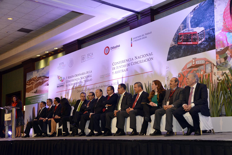 Inauguración de la 1a Sesión Ordinaria de las Conferencias Nacionales de Secretarios del Trabajo y de Juntas de Conciliación y Arbitraje.