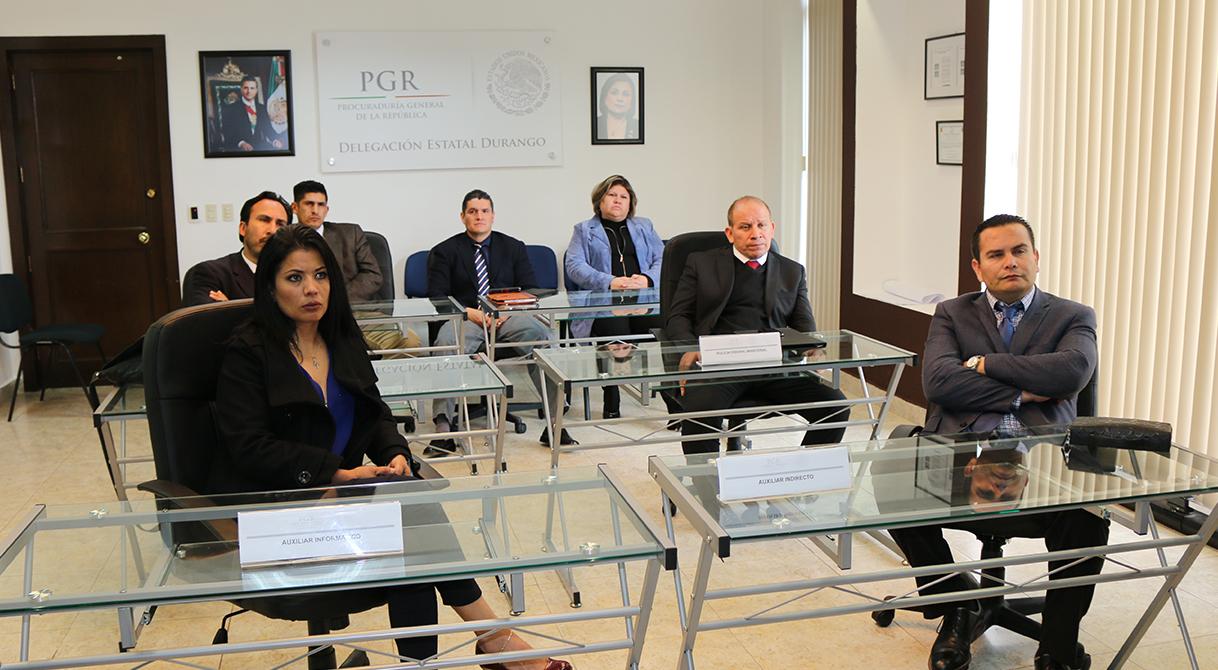 Personal de la delegación PGR de la Ciudad de México recibe capacitación sobre el NSJPA en Durango.