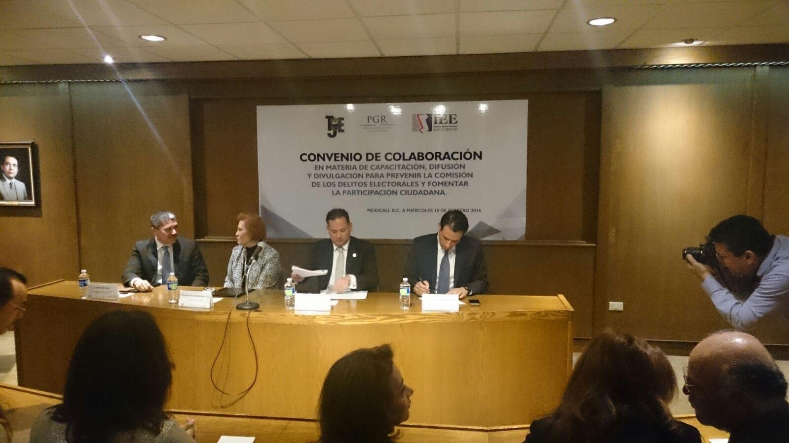 FEPADE suscribe convenio de capacitación para la prevención de delitos electorales con el Instituto y Tribunal Electoral de Baja California