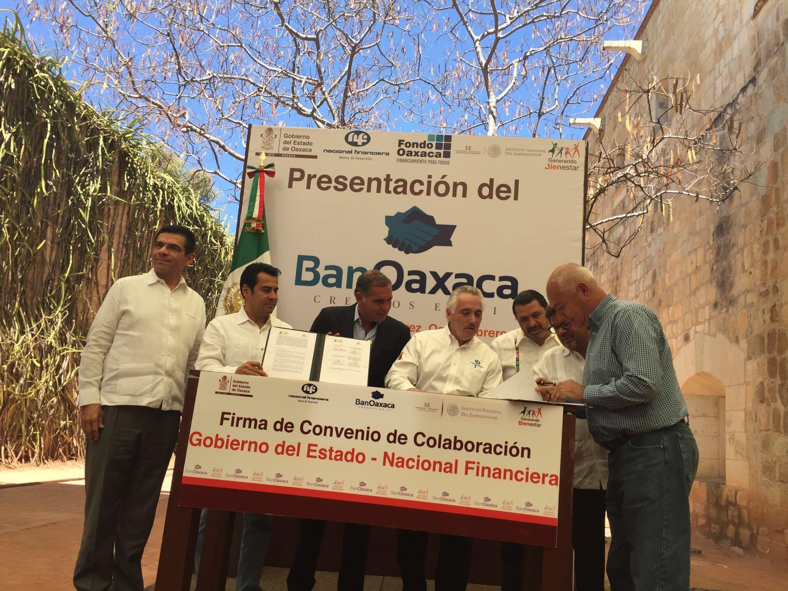 """INADEM, Nafinsa y el gobierno de Oaxaca, presentan """"BanOaxaca"""""""