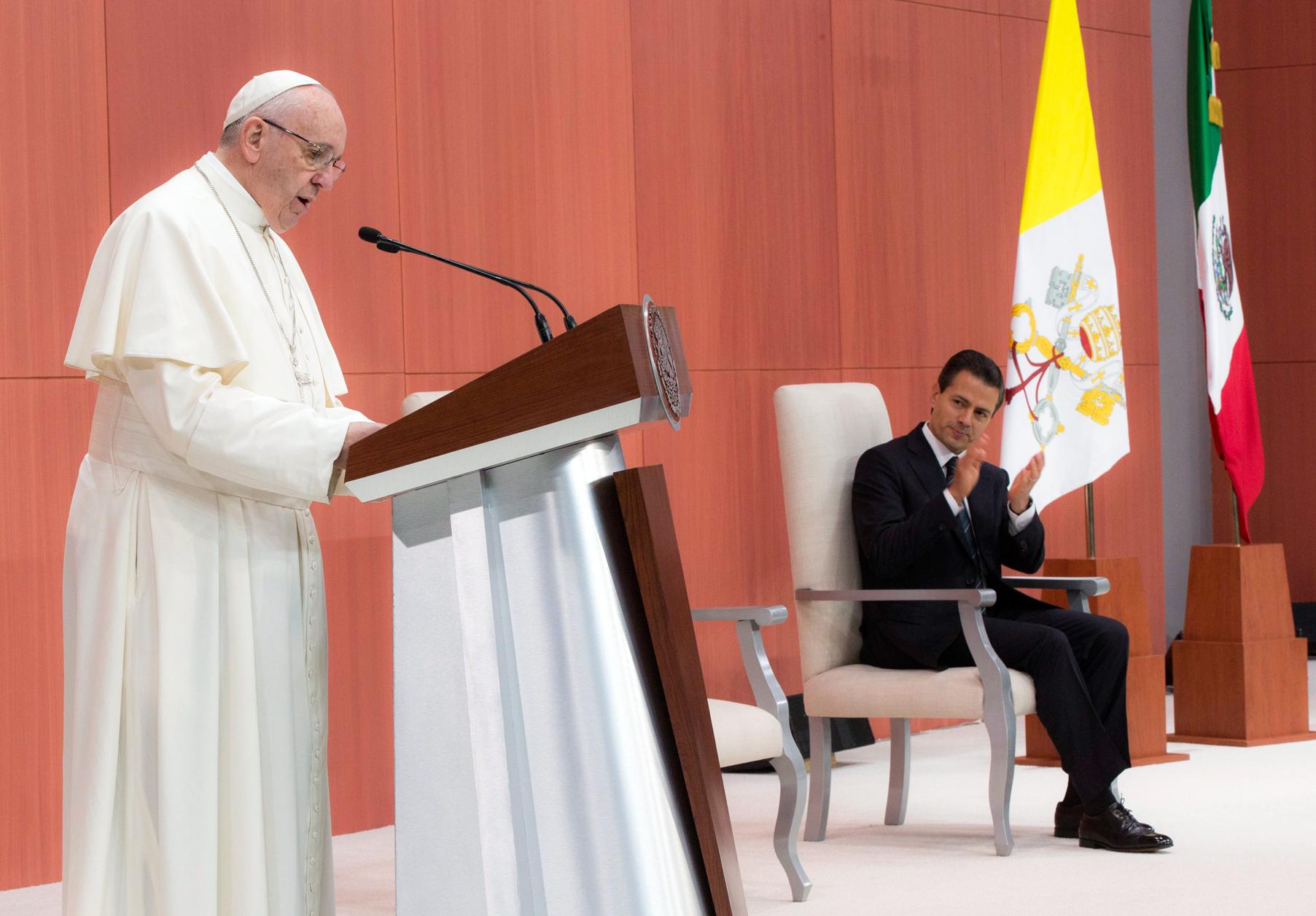 """""""México es un gran país, bendecido con abundantes recursos naturales y una enorme biodiversidad, que se extiende a lo largo de todo su vasto territorio"""", destacó el Sumo Pontífice."""