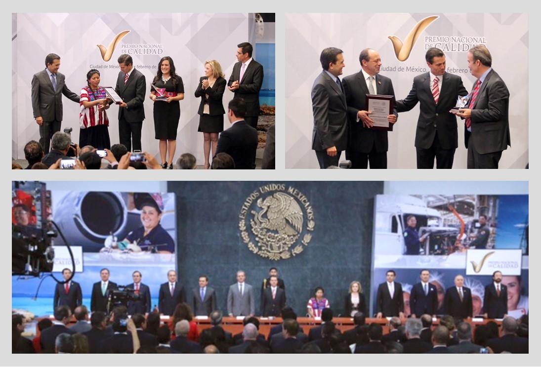Entregan Premio Nacional de Calidad