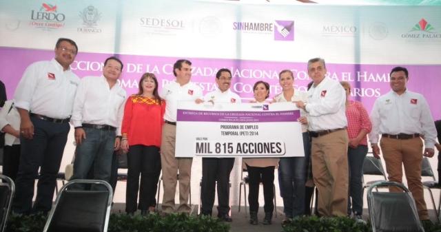 Sedesol aporta más de 8,700 millones de pesos para superar la pobreza en Durango
