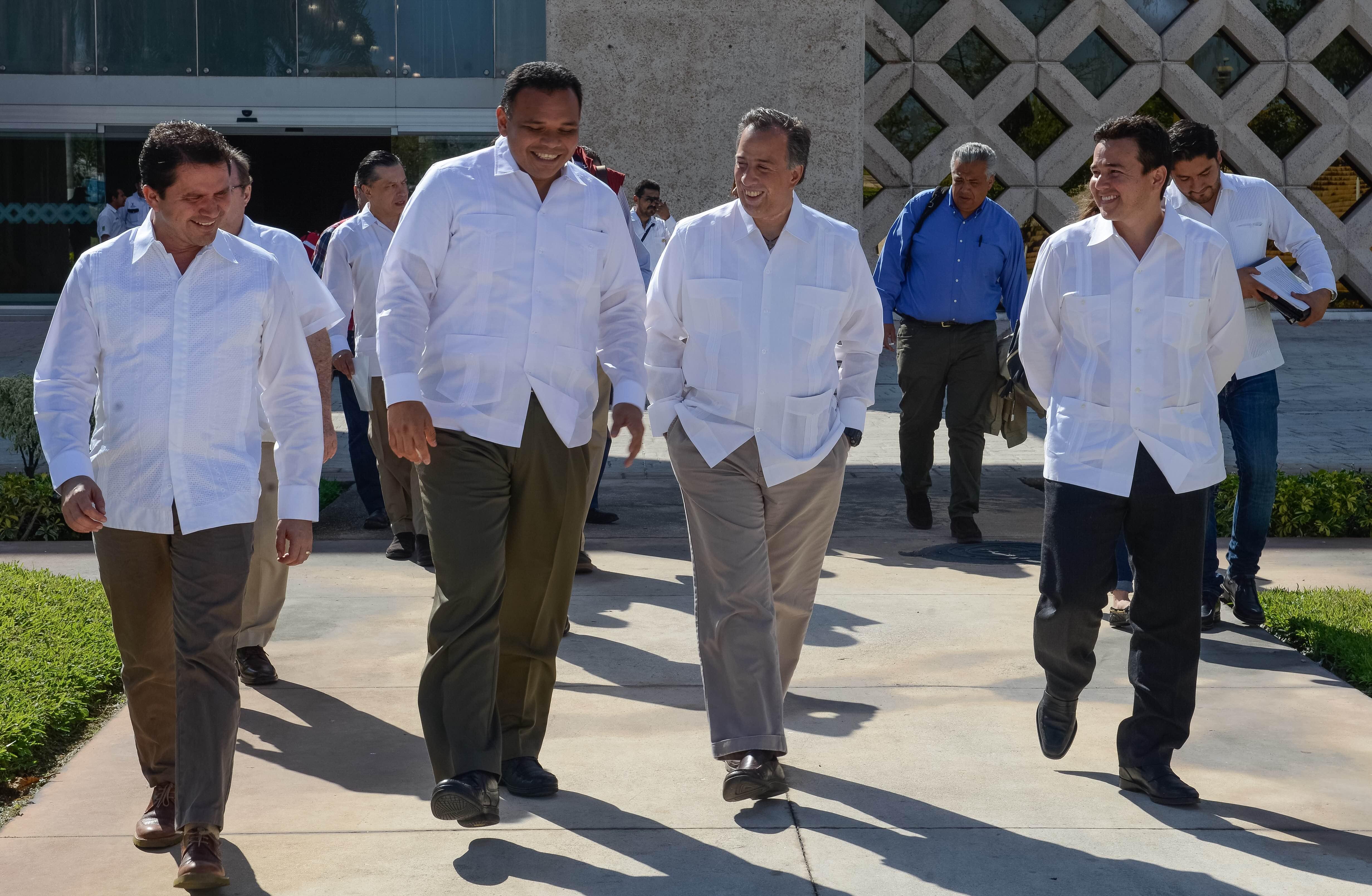 El secretario de Desarrollo Social, José Antonio Meade Kuribreña, en el marco de la firma del Acuerdo por un Yucatán sin Pobreza