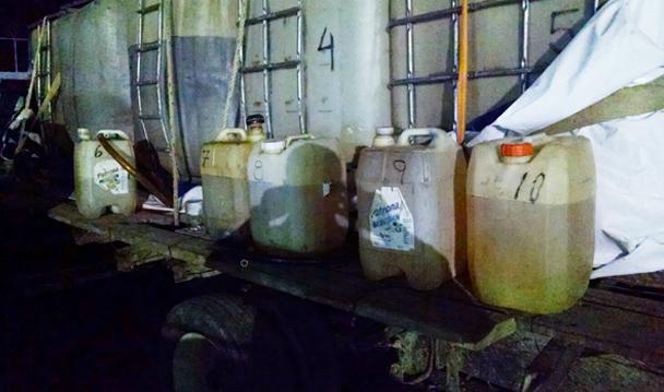 Consigna delegación de PGR en Tamaulipas a tres personas por el delito de posesión ilícita de hidrocarburo