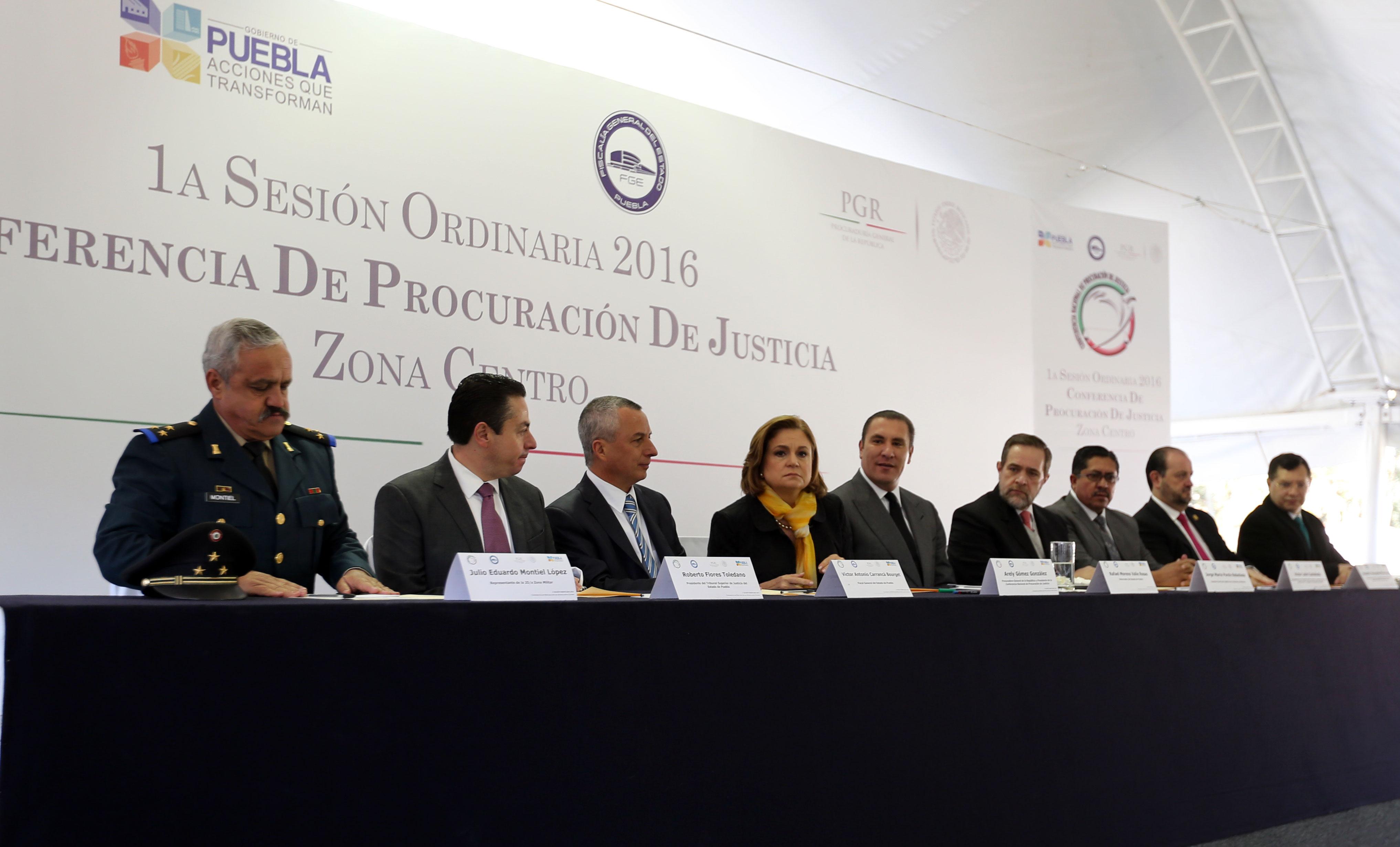 Preside titular de PGR inauguración de la Conferencia Nacional de Procuración de Justicia de la Zona Centro