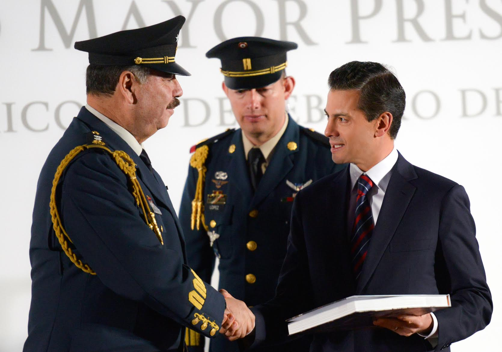 "The  president also thanked, ""The Mexican Army and Navy, the Federal Police and the Center for Investigation and National Security (CISEN) and the various Health and Civil Protection agencies, for their coordination and professionalism."""