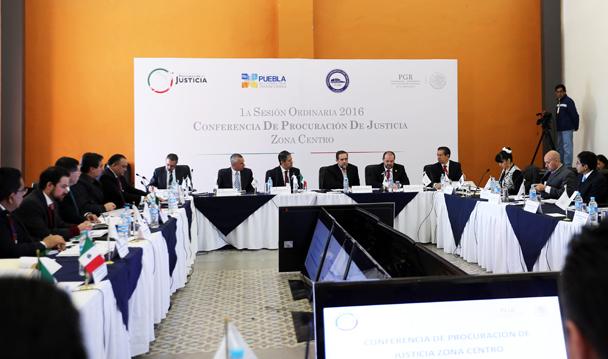 Concluye en Puebla la Conferencia Nacional de Procuración de Justicia de la Zona Centro.