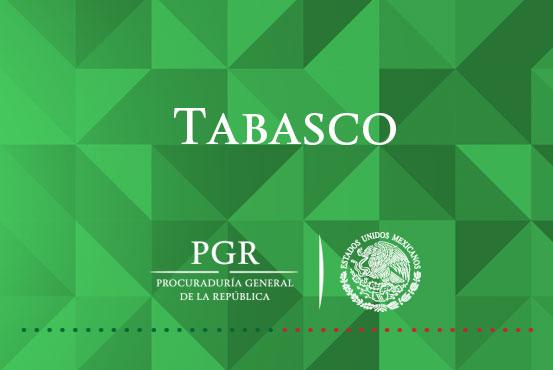 Obtiene PGR Tabasco sentencia condenatoria por delito de VLFAFE.