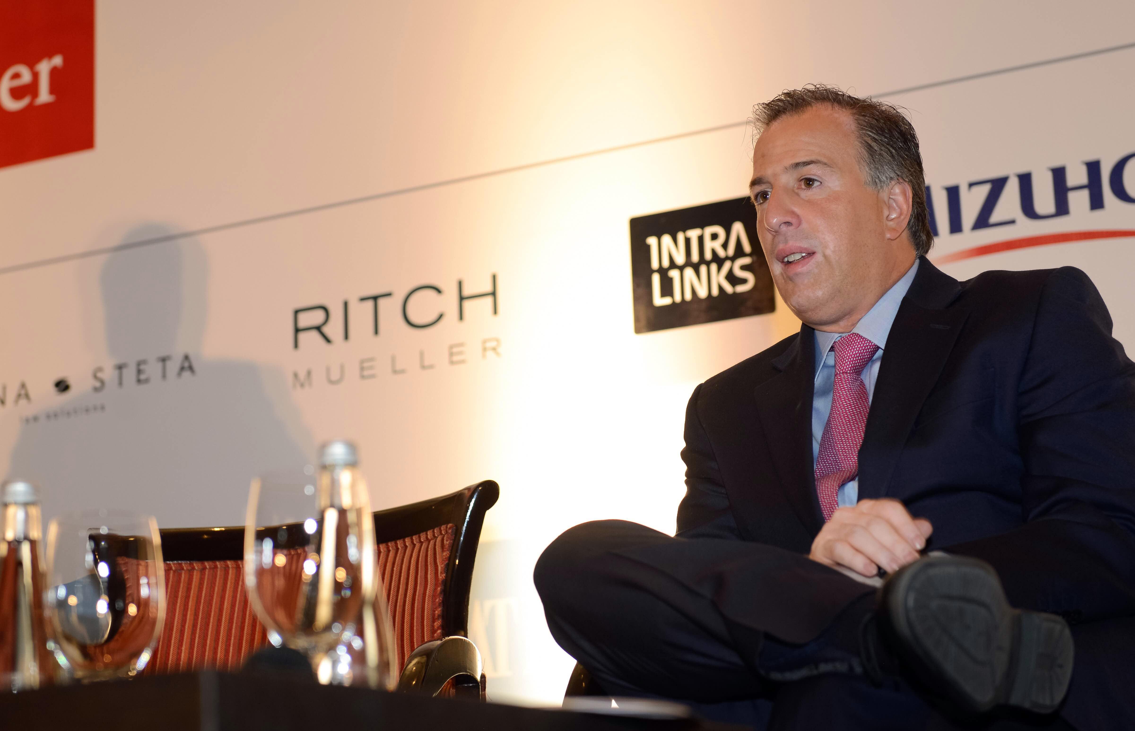 El secretario José Antonio Meade participó como orador en la 11ª Cumbre Financiera Mexicana