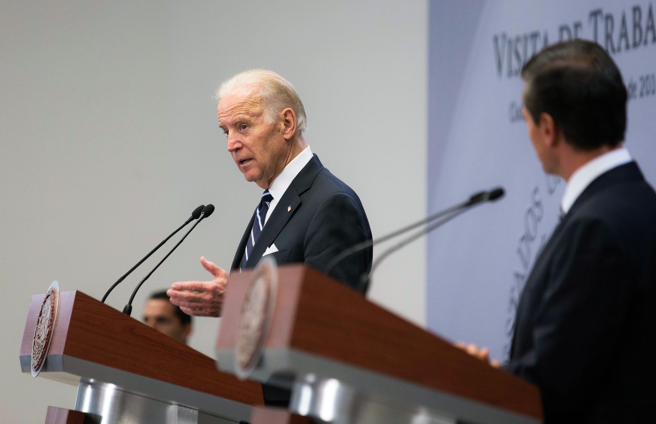 """""""Estoy aquí, en México hoy, para la Tercera Sesión de nuestro Diálogo Económico de Alto Nivel, el DEAN, para continuar integrando y haciendo crecer nuestras economías para el beneficio de nuestros ciudadanos"""", dijo el vicepresidente Joseph Biden."""