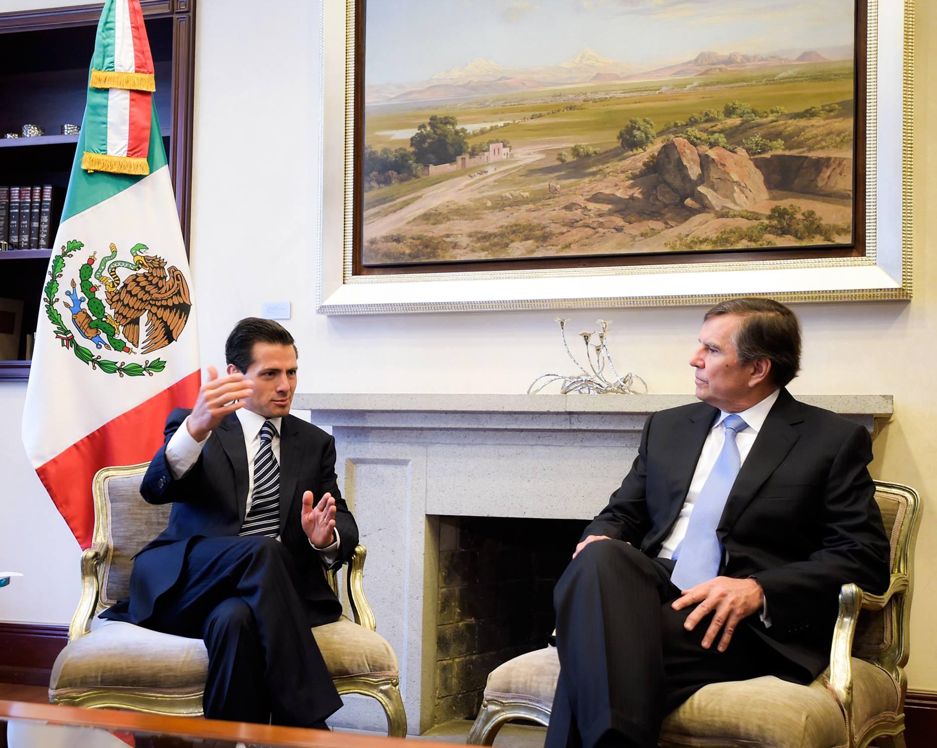 El CEO de Emerson Electric expresó su reconocimiento al Primer Mandatario por el impulso a las reformas y destacó el interés de esa empresa global por concretar inversiones en el sector energético mexicano.