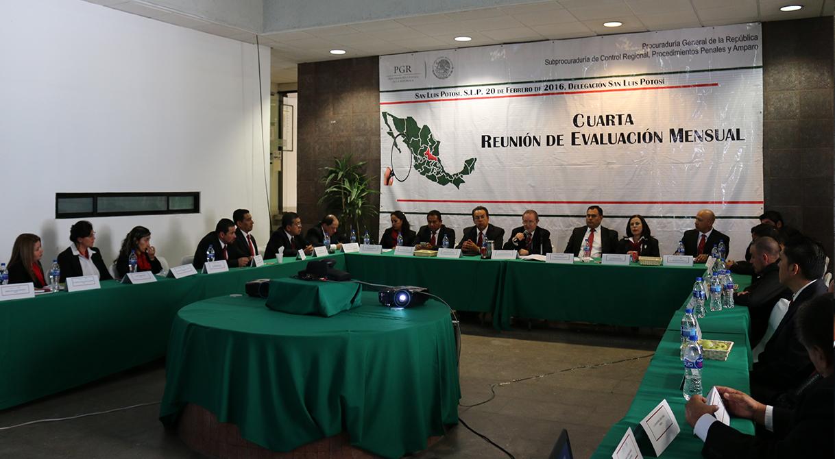 PGR San Luis Potosí llevó a cabo la cuarta reunión de evaluación delegacional