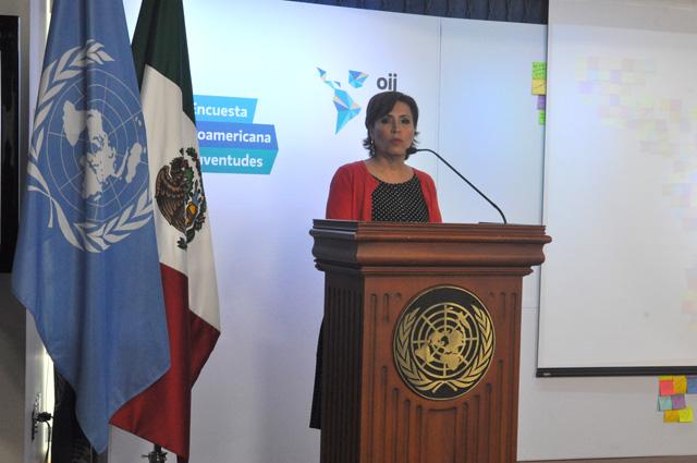 La secretaria de Desarrollo Social asistió a la presentación de la Primera Encuesta Iberoamericana de Juventudes, de la ONU y el Imjuve