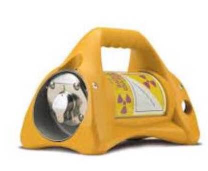Imagen del equipo que contiene la fuente radiactiva.