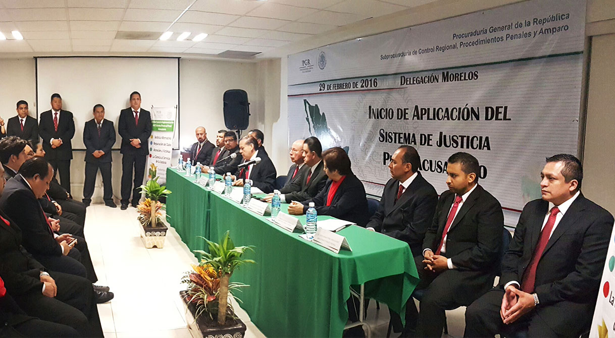 Inicia formalmente PGR delegación Morelos entrada en vigor del Nuevo Sistema Justicia Penal Acusatorio.