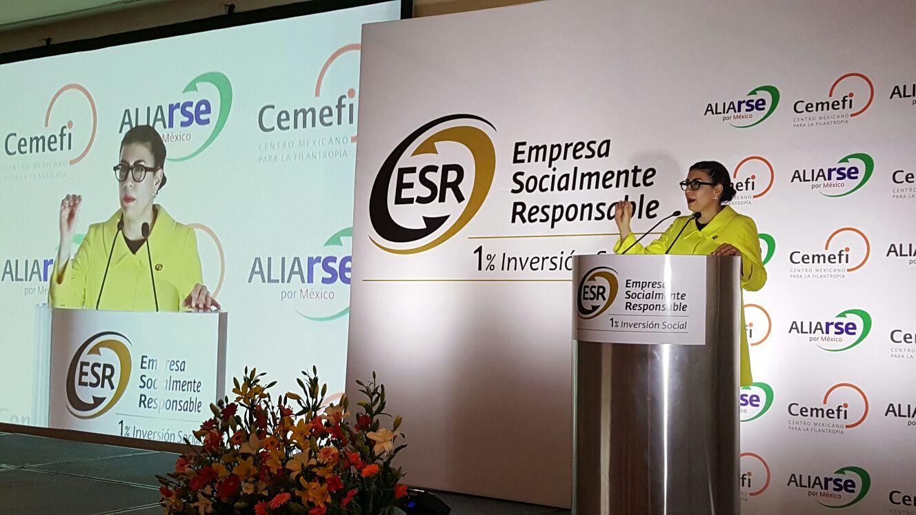 La subsecretaria Vanessa Rubio Márquez destacó la importancia de que el sector privado se sume al compromiso en el combate a los rezagos sociales