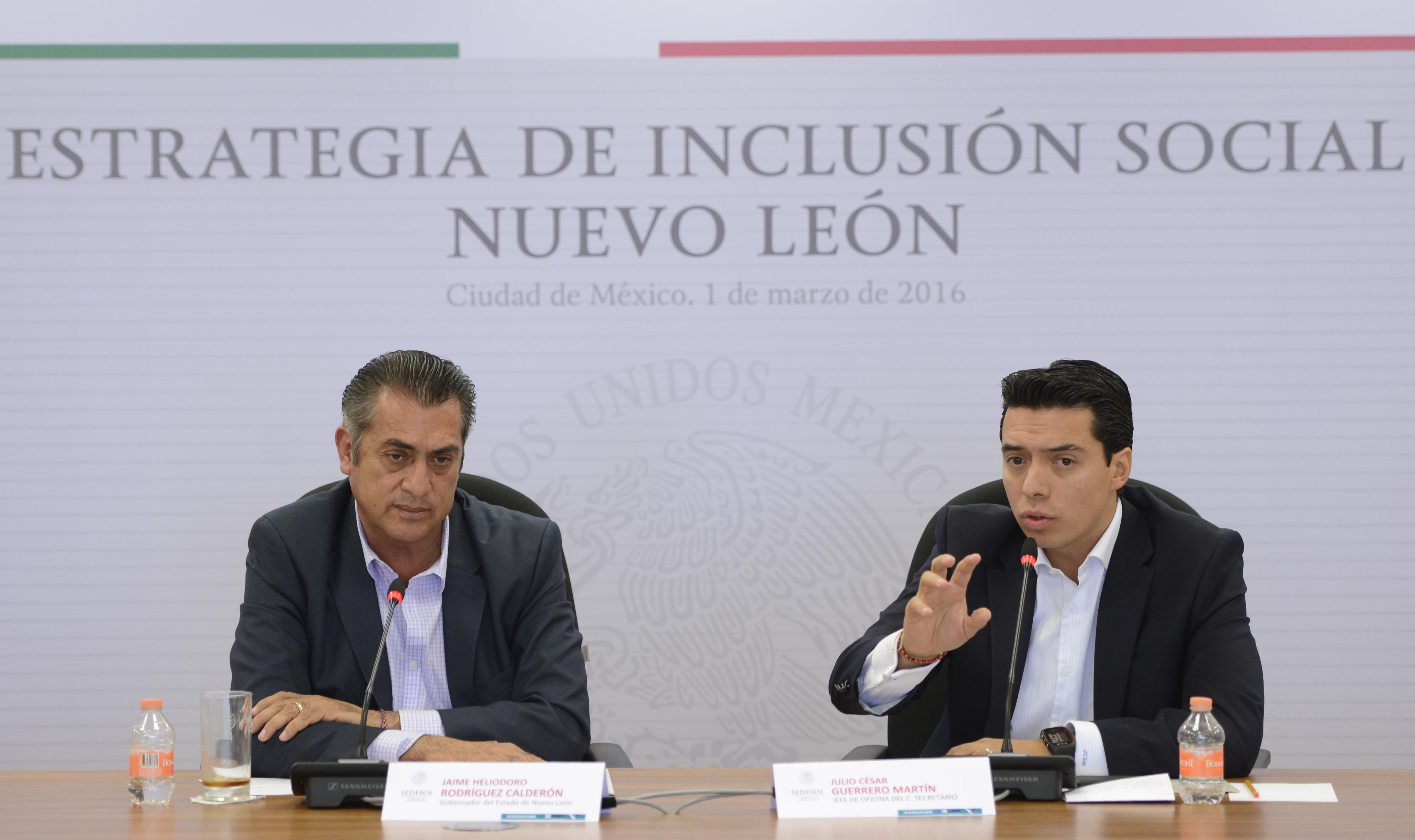 Sedesol y gobierno de Nuevo León acuerdan trabajar de forma compartida para abatir rezagos sociales en el estado