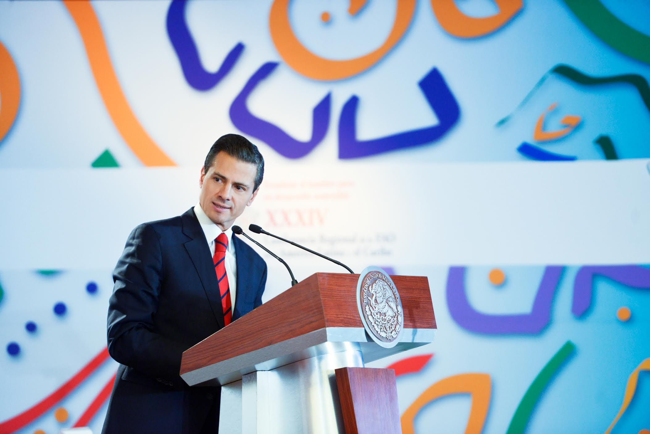 El Primer Mandatario inauguró la 34ª Conferencia Regional de la Organización de las Naciones Unidas para la Alimentación y la Agricultura para América Latina y el Caribe.