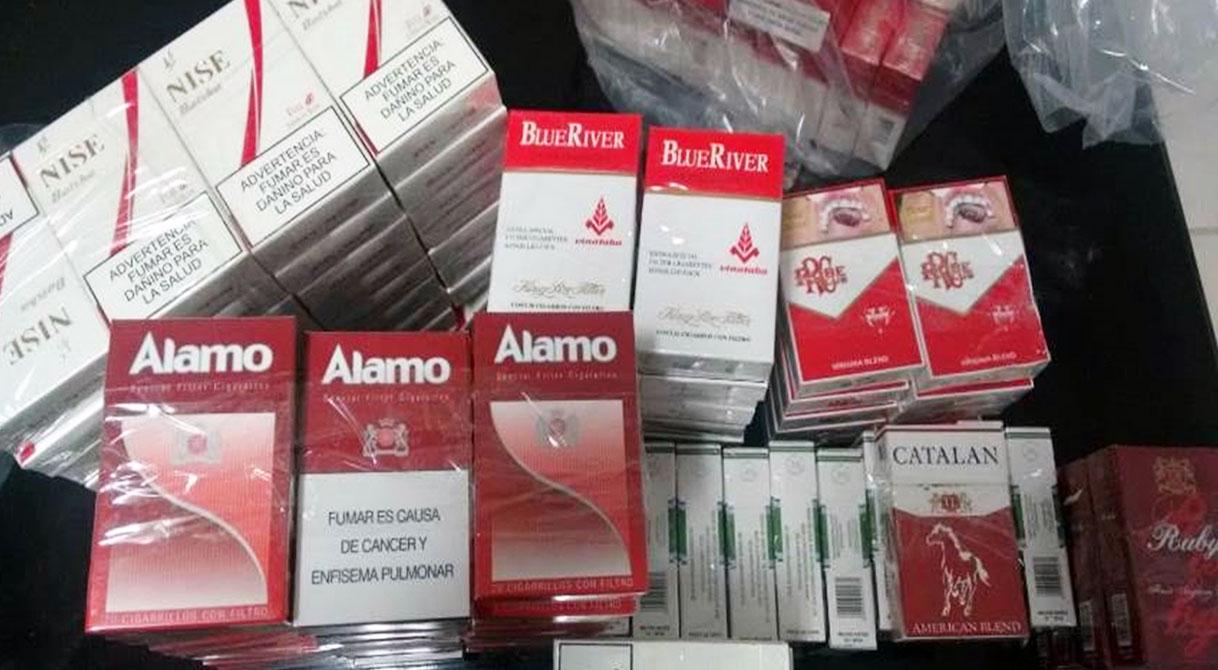 PGR asegura más de 200 cajetillas de cigarros de contrabando.