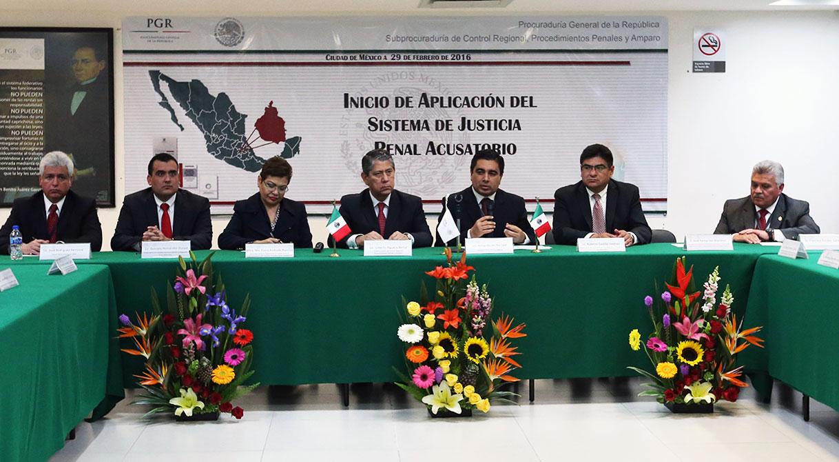 Se incorpora PGR en la Ciudad de México a la operación del Nuevo Sistema Penal Acusatorio.