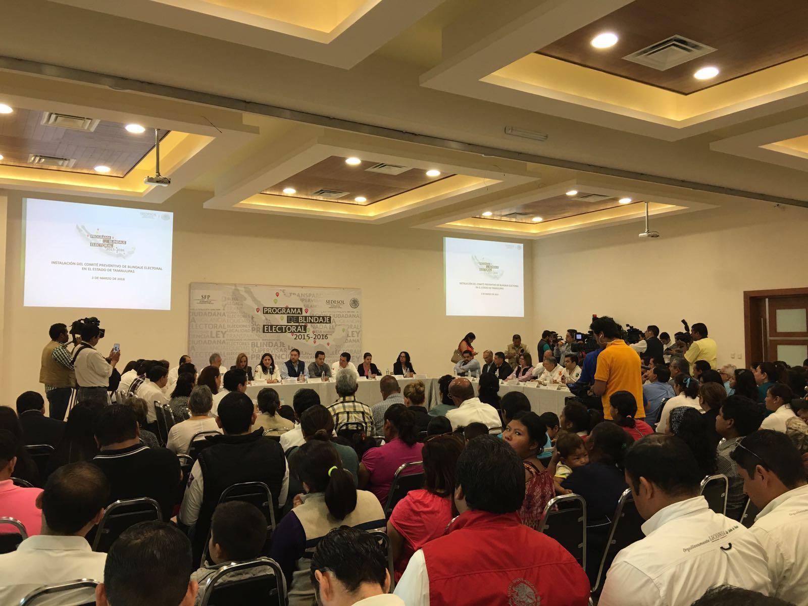 Sedesol  instala Comité Preventivo de Blindaje Electoral en Tamaulipas