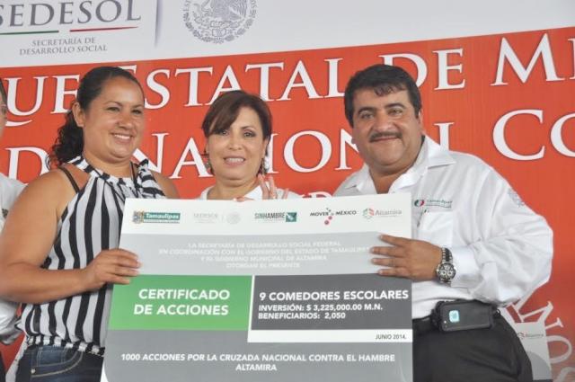 Mil acciones en la Cruzada Nacional contra el Hambre en Tamaulipas