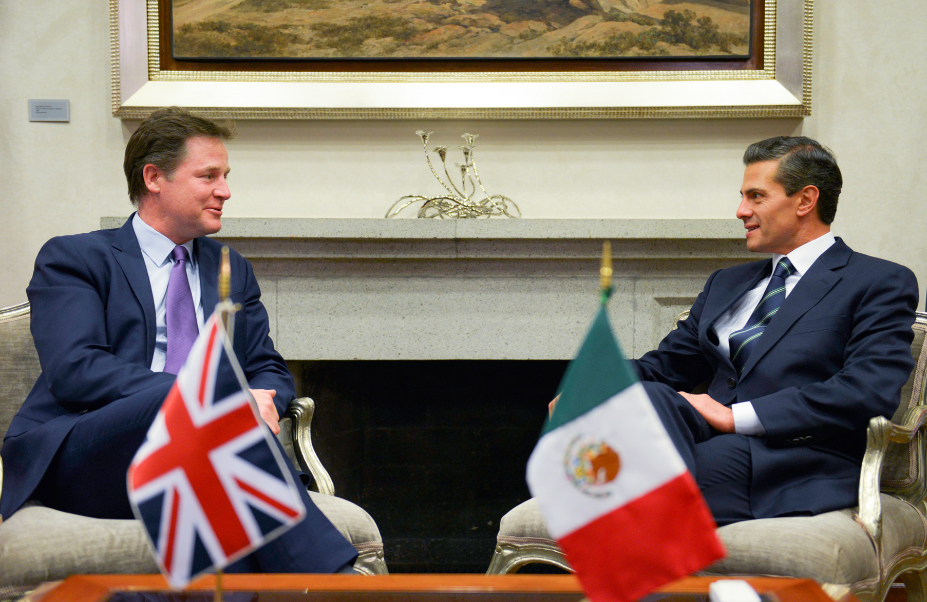 President Enrique Peña Nieto awarded Nicholas Clegg the highest honor conferred by the Mexican Government on foreigners for being a leading promoter of strengthening bilateral relations.
