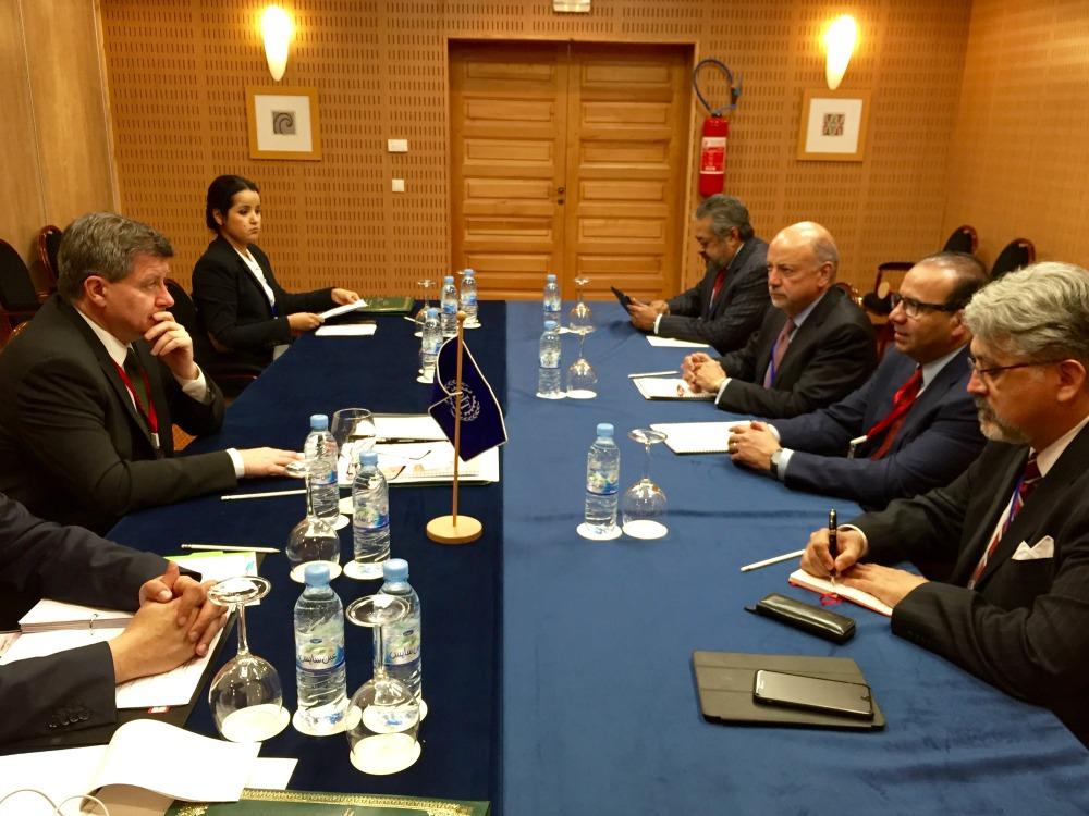 El Secretario del Trabajo y Previsión Social, Alfonso Navarrete Prida, sostuvo una reunión con el Director General de la Organización Internacional del Trabajo, Guy Ryder,