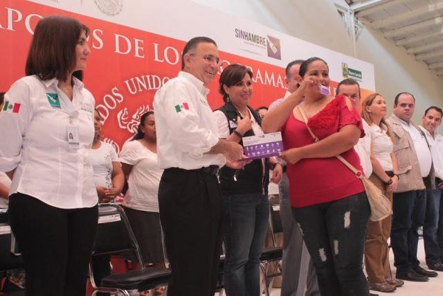 Tarjeta SIN Hambre  en la zona fronteriza de Nuevo Laredo
