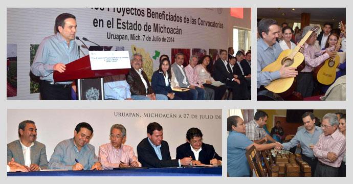 Gira de trabajo a Uruapan, Michoacán, del Secretario de Economía, Ildefonso Guajardo Villarreal