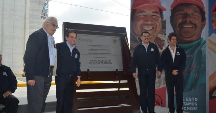 """Inauguró el Secretario de Economía la planta El Palmar de """"Cementos Fortaleza"""" en Hidalgo"""
