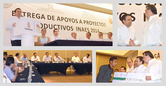 Preside el Secretario de Economía entrega de recursos del INAES a proyectos productivos del Estado de Guerrero
