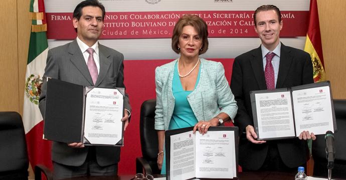 La Secretaría de Economía firmó convenios de colaboración con institutos de Bolivia y Costa Rica