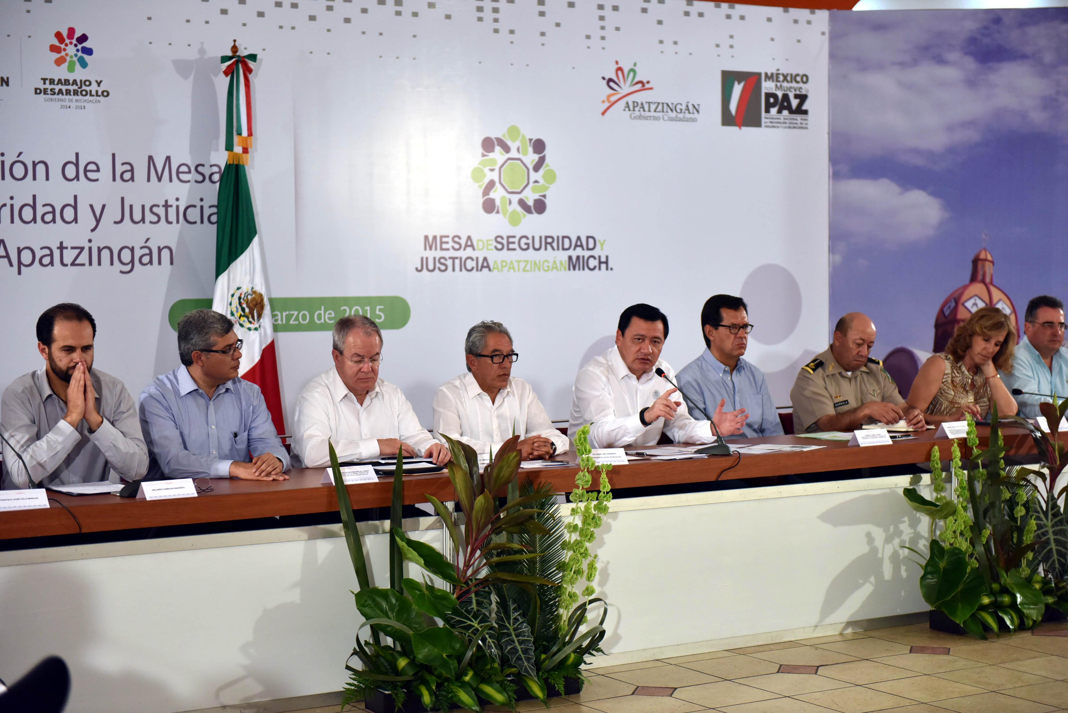 Instalación de la Mesa de Seguridad y Justicia del municipio de Apatzingán, Michoacán