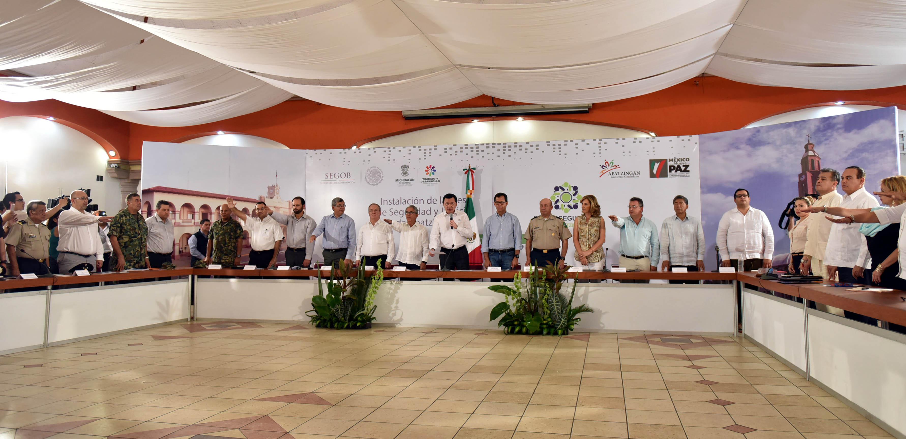 Instalación de la Mesa de Seguridad y Justicia de Apatzingán, Michoacán