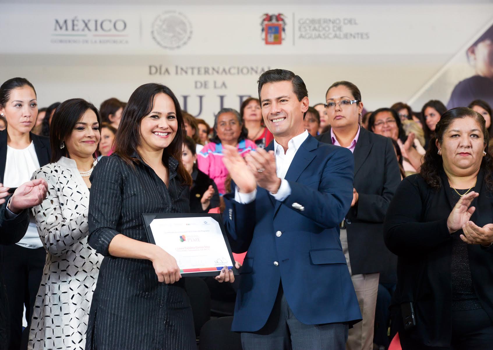 The president  led the celebration of International Women's Day