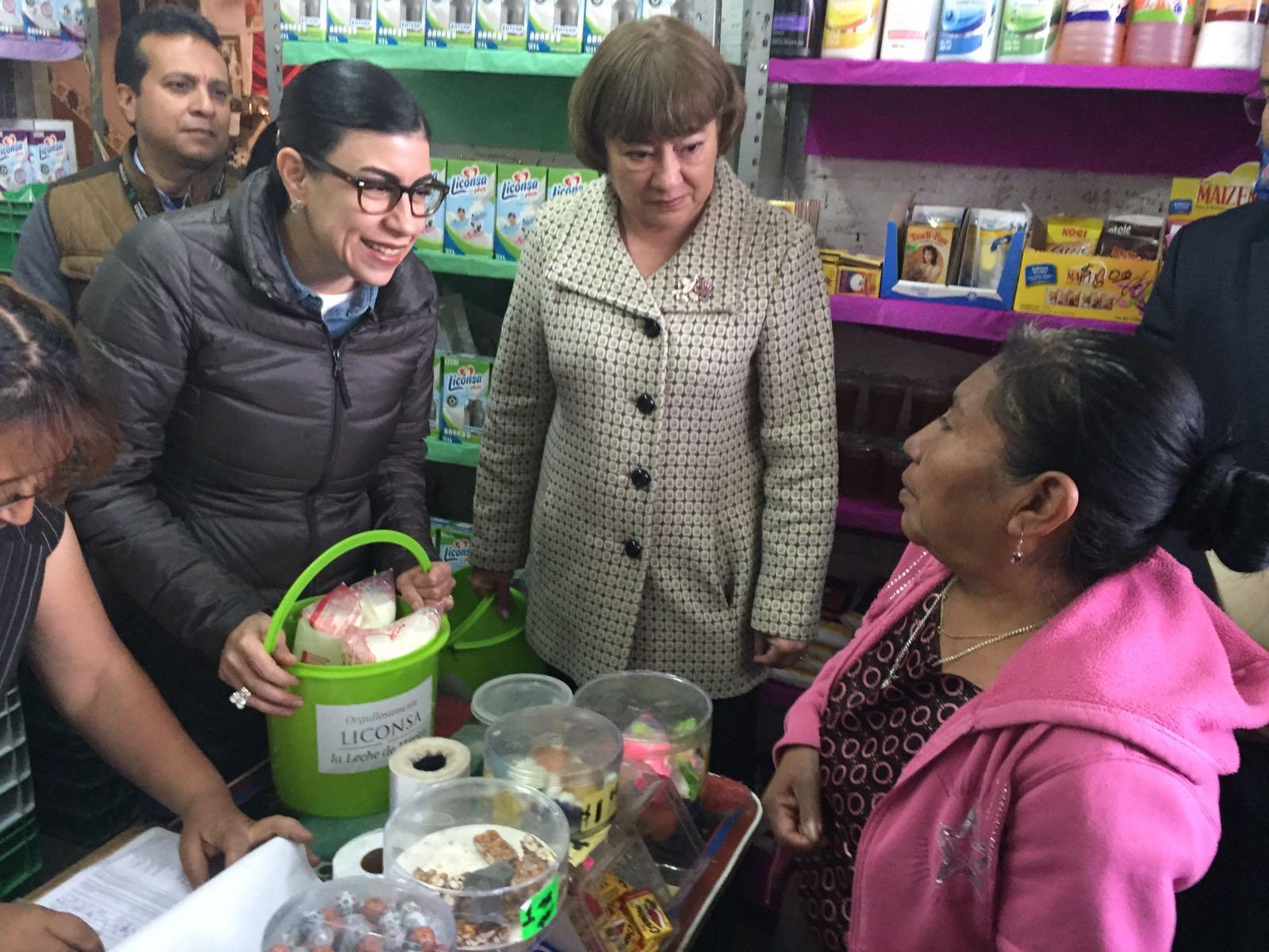 La subsecretaria de Planeación, Evaluación y Desarrollo Regional, Vanessa Rubio, en gira de trabajo en Aguascalientes