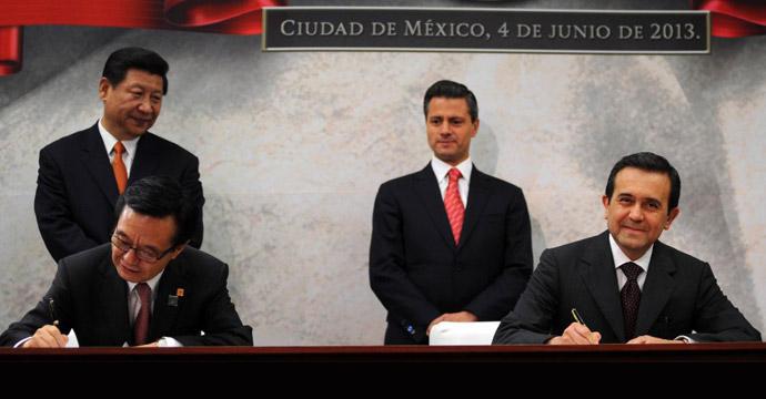 Los gobiernos de México y China firman acuerdos en materia comercial y de inversión