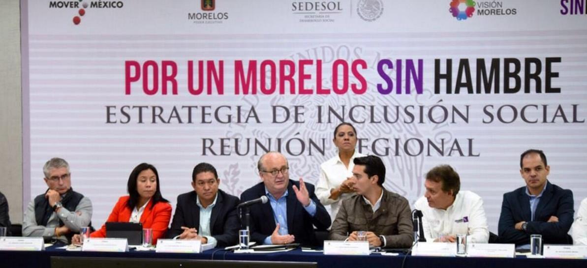 El jefe de la Oficina del Secretario de Desarrollo Social y el gobernador de Morelos, Graco Ramírez, se reunieron para consolidar esta Estrategia en el estado