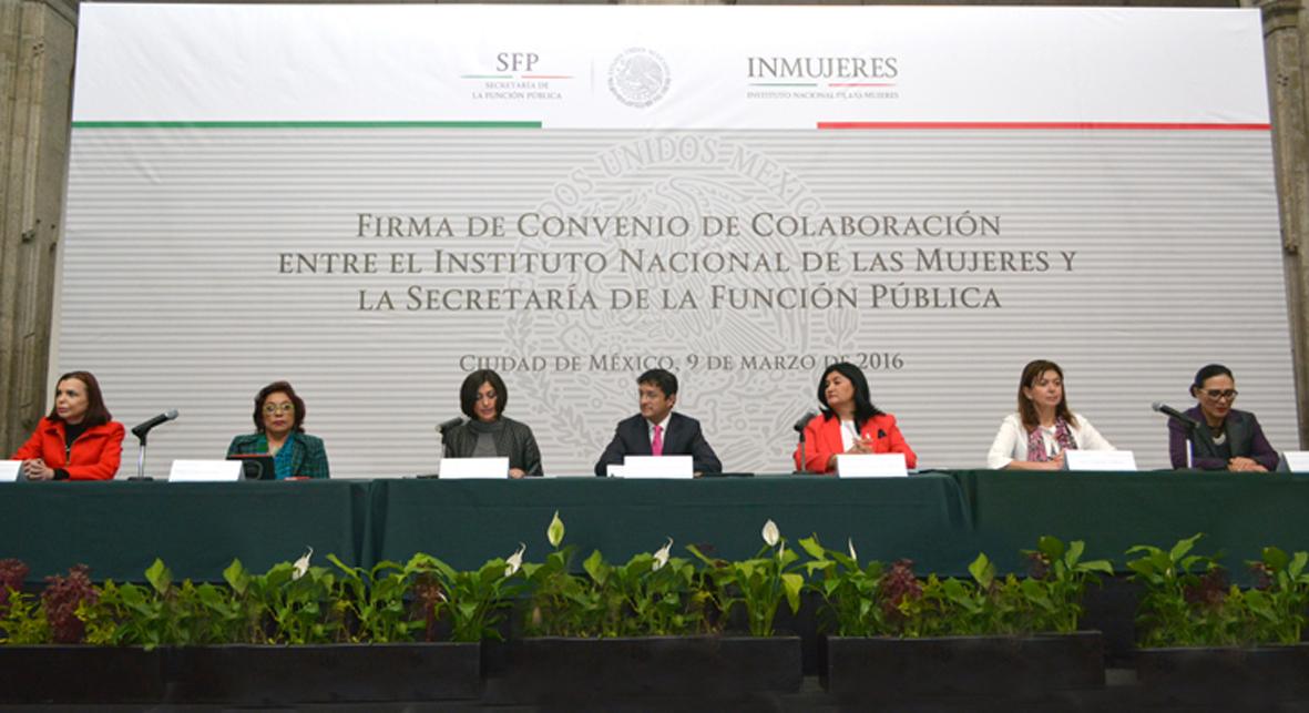 Acuerdan SFP e INMUJERES acciones conjuntas para concretar una nueva cultura de igualdad de género