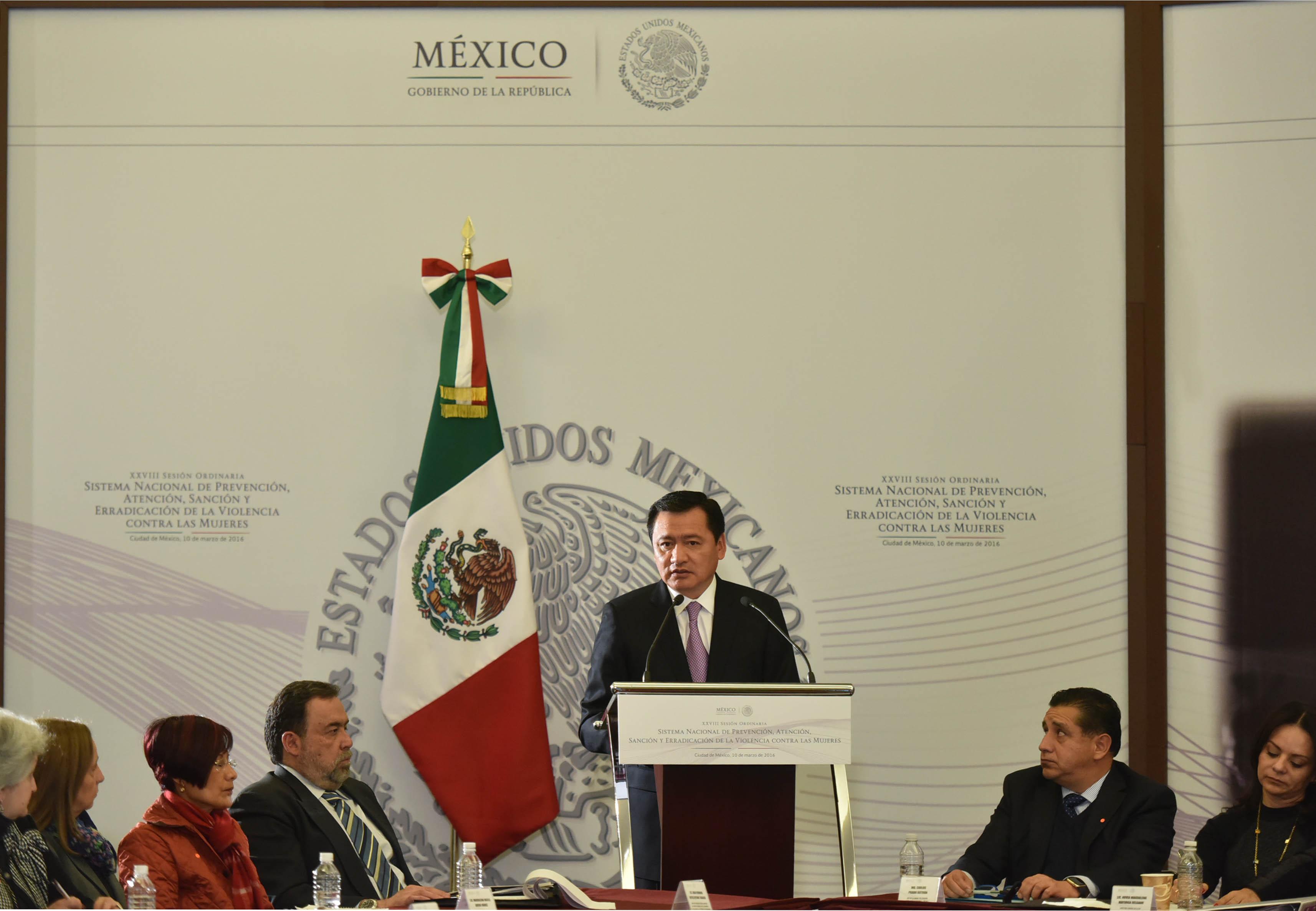 El Secretario de Gobernación encabezó la XXVIII Sesión del Sistema para Prevenir y Erradicar la Violencia Contra las Mujeres