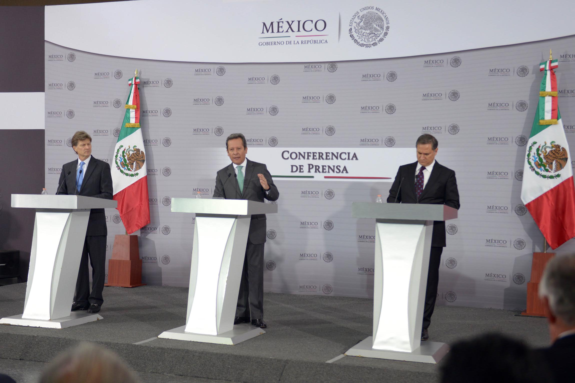 Press Conference with General Coordinator of Social Communication of the President's Office Eduardo Sánchez; Minister of Tourism Enrique de la Madrid and President of the International Entertainment Corporation Alejandro Soberón.