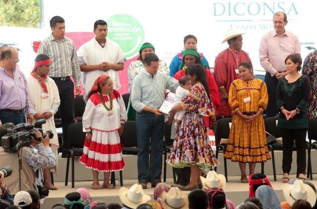 Mes de la Cruzada contra el Hambre en la zona de la Sierra Tarahumara