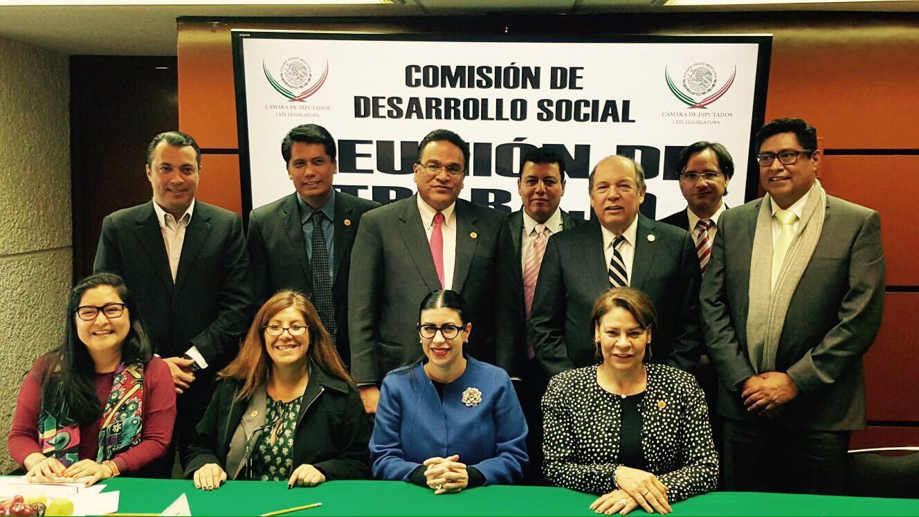 La subsecretaria Vanessa Rubio Márquez en un encuentro con los integrantes de la Comisión de Desarrollo Social de la Cámara de Diputados