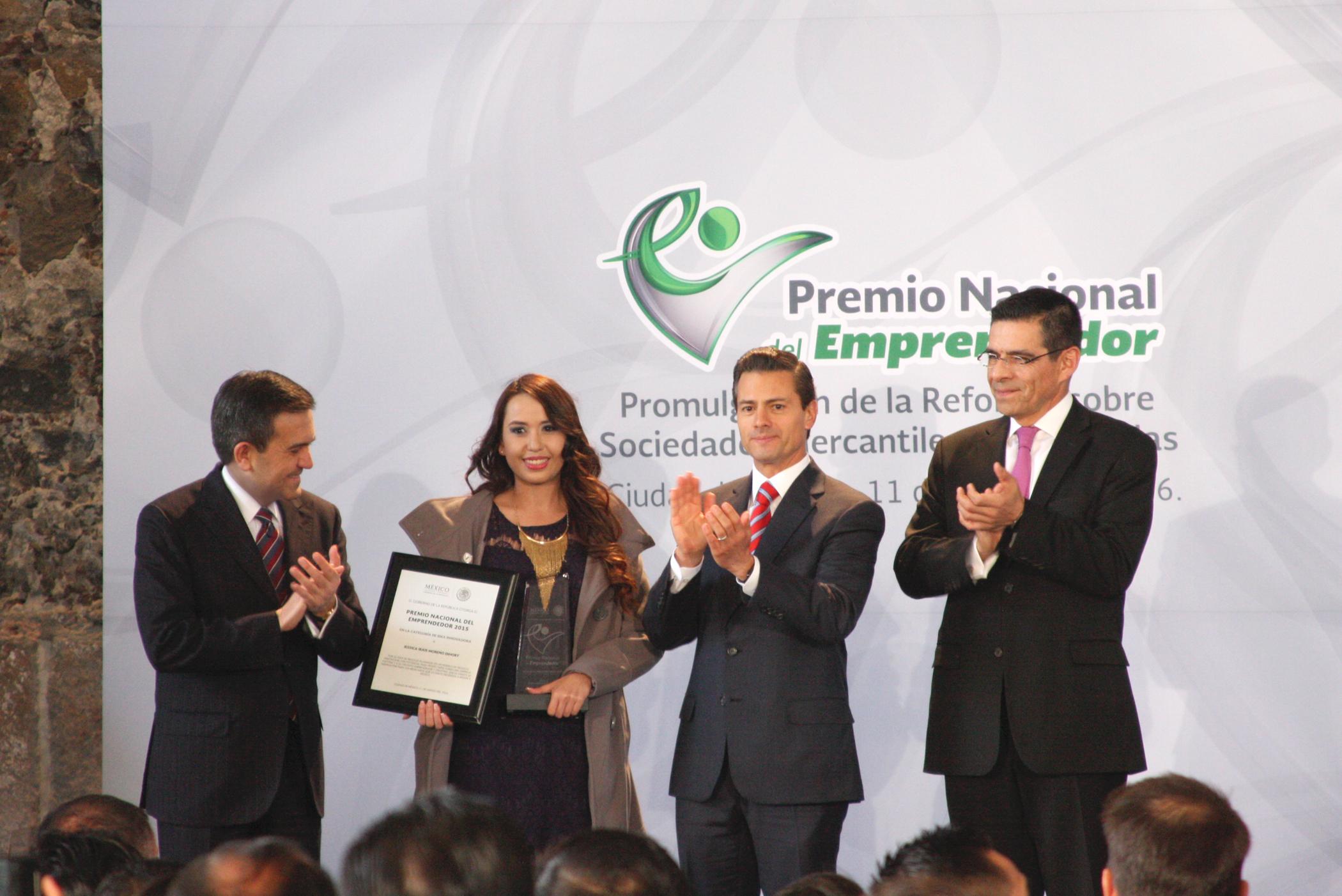 Ceremonia de entrega del Premio Nacional del Emprendedor 2015