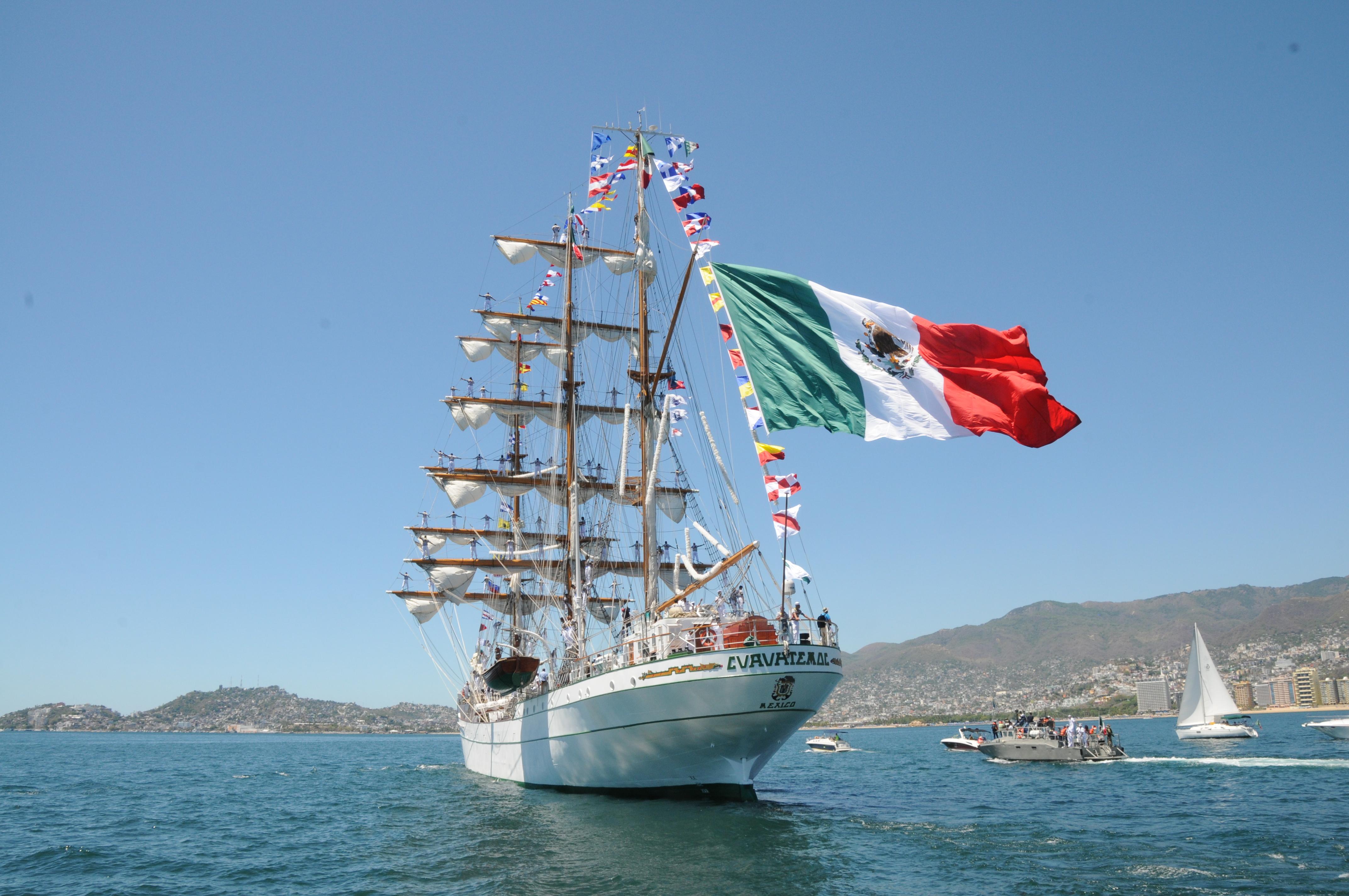 """El Buque Escuela Velero """"Cuauhtémoc"""", rumbo al Crucero de Instrucción """"IBERO ATLÁNTICO 2016"""""""