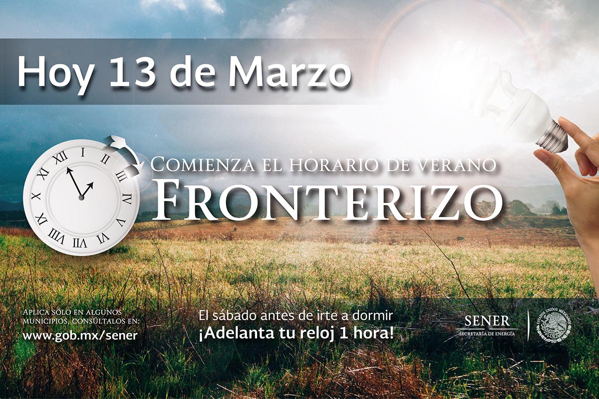 Hoy inicia el Horario de Verano 2016 en 33 municipios de la franja fronteriza norte del país.