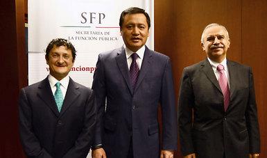 Virgilio Andrade Martínez, Titular de la Secretaría de la Función Pública, ratificó el compromiso de continuar el trabajo por un gobierno eficaz, apegado a la legalidad y transparente.