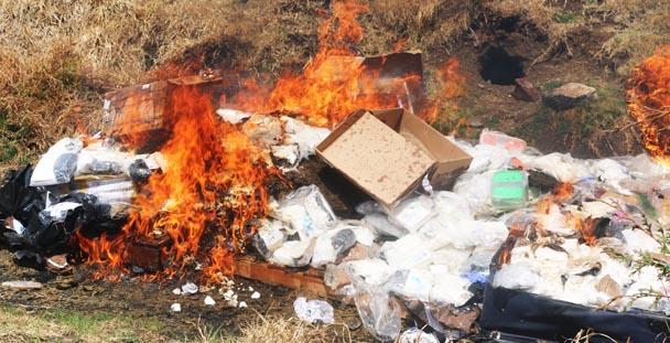 Incinera PGR casi 300 kilos de narcóticos asegurados en la entidad
